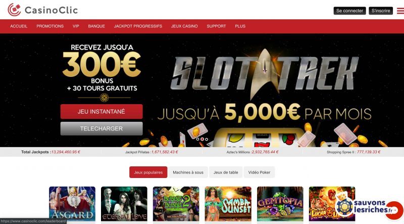 casino clic avis interface