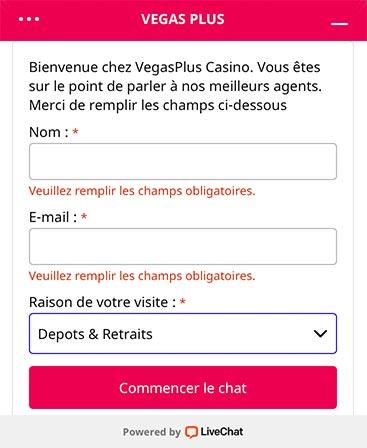 Service Client VegasPlus