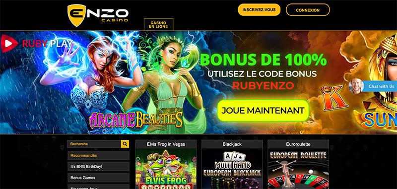accueil enzo casino