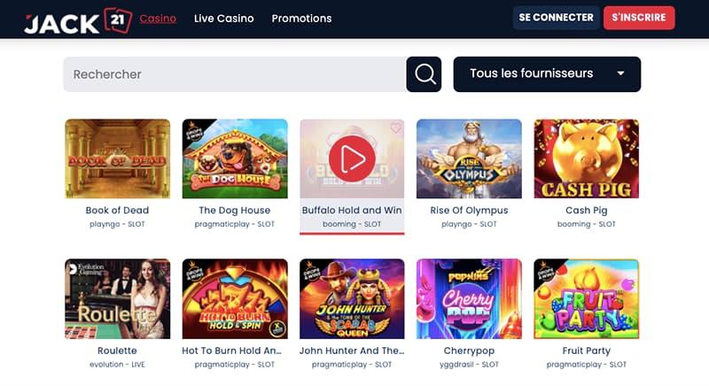 casino jack21 capture d'écran des jeux