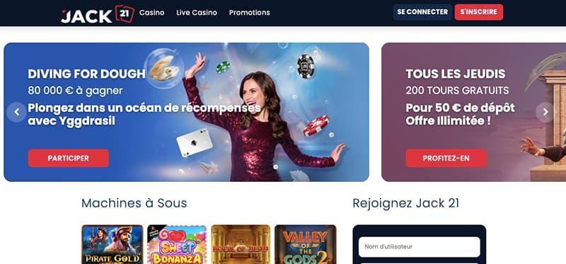casino jack21 capture d'écran interface