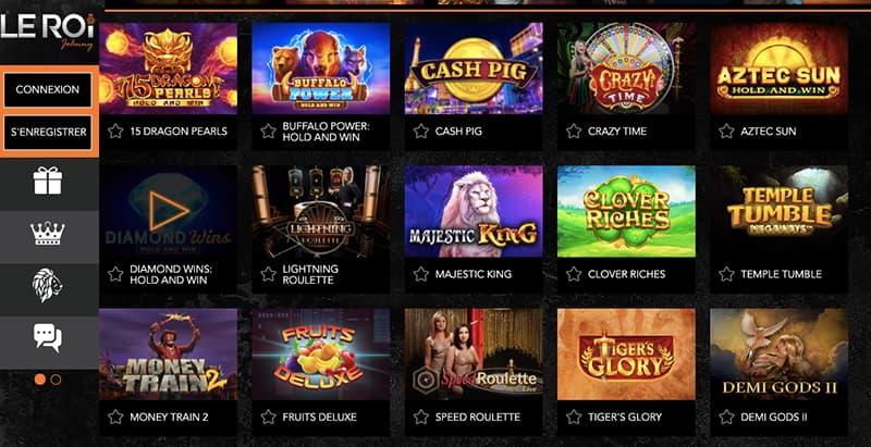 casino leroijohnny capture d'écran des jeux
