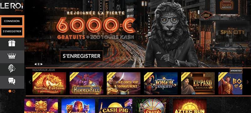 casino leroijohnny capture d'écran interface