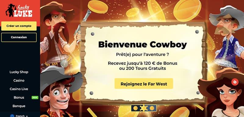 lucky luke casino capture d'écran interface