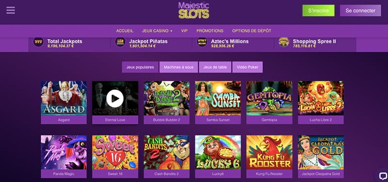 majestic slots casino capture d'écran des jeux