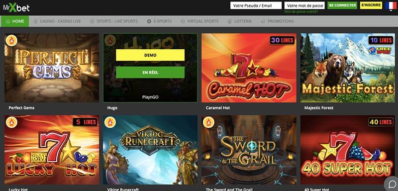 mxbet casino capture d'écran des jeux