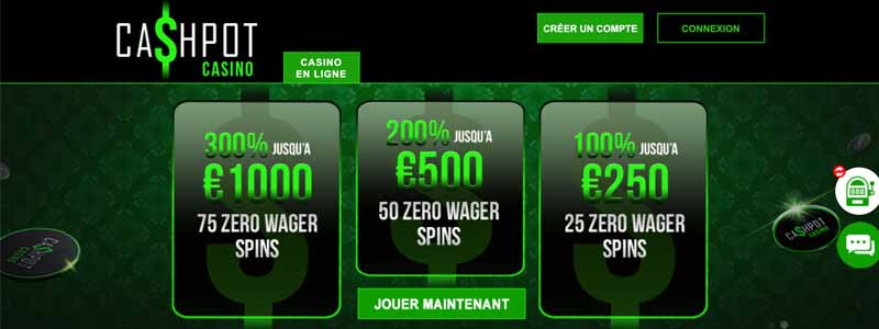 screenshot cashpot casino bonus