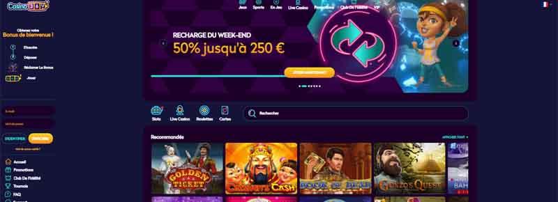screenshot casino360 interface