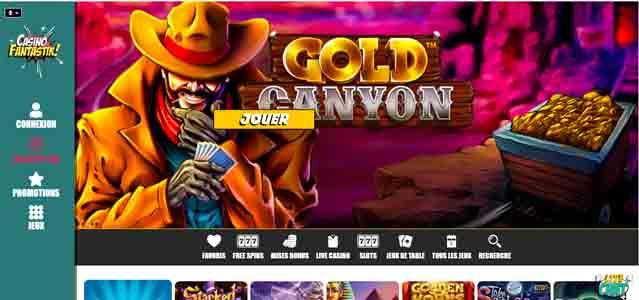screenshot casino fantastik interface