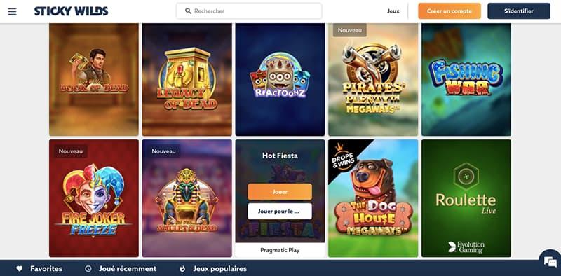 sticky wilds casino capture d'écran jeux