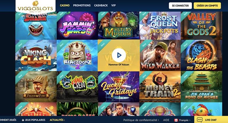 viggoslots casino capture d'écran des jeux