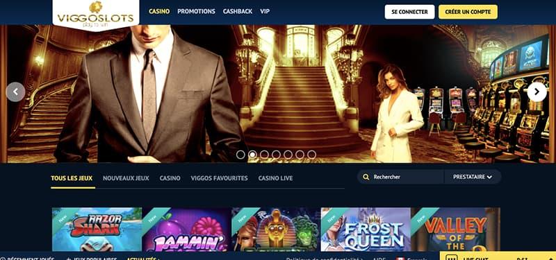 viggoslots casino capture d'écran interface
