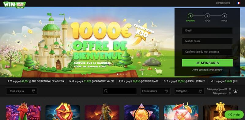 winoui casino capture d'écran des jeux